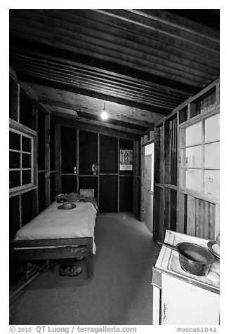 Reconstitution of Cesar Chavez room, Cesar Chavez National Monument, Keene. California, USA (black and white)
