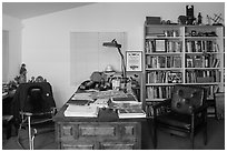 Cesar Chavez office, Cesar Chavez National Monument, Keene. California, USA ( black and white)