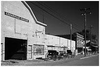Main street, Cedarville. California, USA ( black and white)