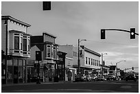 Main Street. Fort Bragg, California, USA ( black and white)