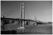 Golden Gate bridge, afternoon. San Francisco, California, USA ( black and white)