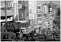 Chinatown street. San Francisco, California, USA (black and white)