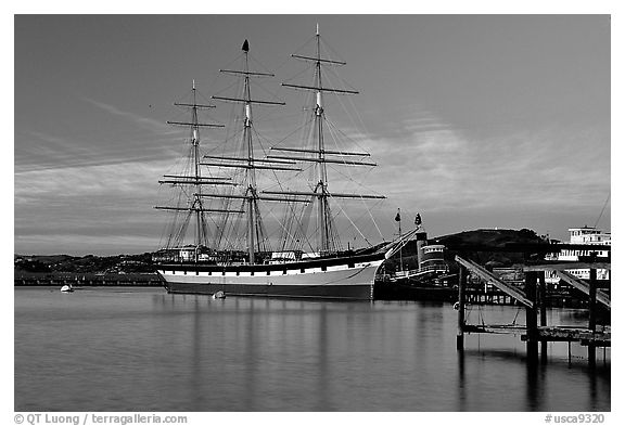 The Balclutha at sunset. San Francisco, California, USA