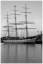 The Balclutha at sunset. San Francisco, California, USA ( black and white)