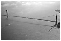 Aerial view of the Golden Gate Bridge. San Francisco, California, USA ( black and white)