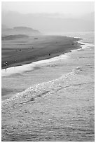 Ocean Beach at sunset. San Francisco, California, USA (black and white)