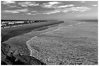 Ocean Beach at sunset. San Francisco, California, USA ( black and white)