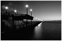 Berkeley Pier at sunset. Berkeley, California, USA ( black and white)