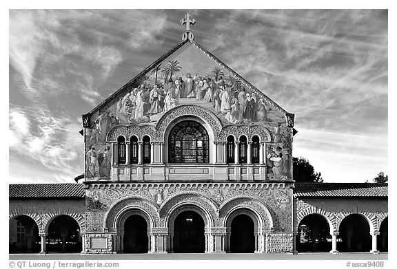 Memorial Chapel, early morning. Stanford University, California, USA