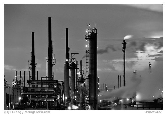 Pipes of San Francisco Refinery, Rodeo. San Pablo Bay, California, USA