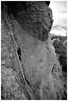 Rock climber. Pinnacles National Park ( black and white)