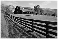 Ranch, Sunol Regional Park. California, USA ( black and white)