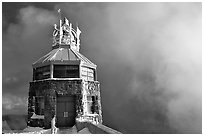 Ice-clad summit, Mt Diablo State Park. California, USA (black and white)