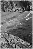 Beach near Devil's slide, sunset. San Mateo County, California, USA ( black and white)