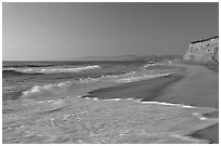 San Gregorio State Beach, sunset. San Mateo County, California, USA ( black and white)