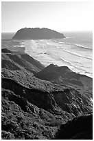 Point Sur. Big Sur, California, USA ( black and white)