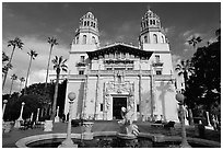 Hearst Castle. California, USA ( black and white)