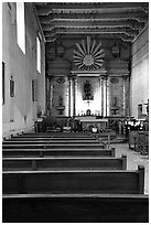 Chapel, Mission San Miguel Arcangel. California, USA ( black and white)