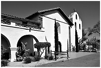 Mission Santa Inez. California, USA (black and white)
