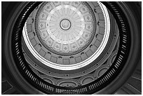 Dome of the state capitol from inside. Sacramento, California, USA (black and white)