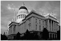 California State capitol, sunset. Sacramento, California, USA (black and white)