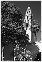 Museum of Man, Balboa Park. San Diego, California, USA (black and white)
