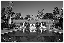 Conservatory of flowers, Balboa Park. San Diego, California, USA (black and white)