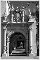 Casa Del Prado, Balboa Park. San Diego, California, USA (black and white)