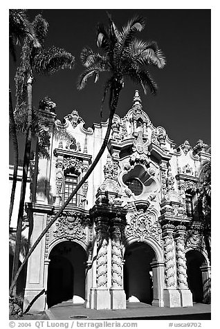 Casa Del Prado, afternoon, Balboa Park. San Diego, California, USA