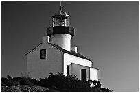 Old Point Loma Lighthouse, late afternoon. San Diego, California, USA ( black and white)