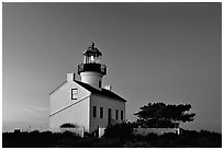 Old Point Loma Lighthouse, dusk. San Diego, California, USA ( black and white)