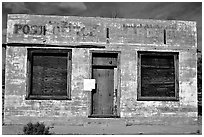 Abandonned post office. Mojave National Preserve, California, USA ( black and white)