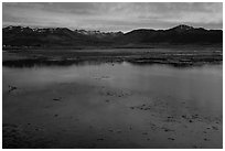 Bridgeport Reservoir, dusk. California, USA ( black and white)