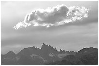 Cloud above the Minarets. California, USA (black and white)
