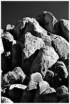 Boulders in Alabama Hills. California, USA (black and white)