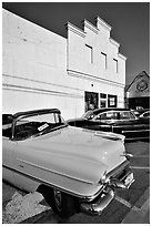 Classic Pink Cadillac, Bishop. California, USA ( black and white)