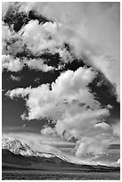 Clouds and Sierra, Owens Valley. California, USA ( black and white)