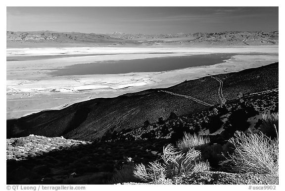 Owens Lake, Argus and Panamint Ranges, afternoon. California, USA