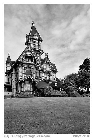 Victorian Carson Mansion, Eureka. California, USA (black and white)
