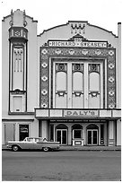 Former Loew State Theatre that became Daleys Department Store, Eureka. California, USA (black and white)
