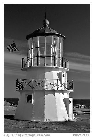 Lighthouse, Shelter Cove, Lost Coast. California, USA (black and white)