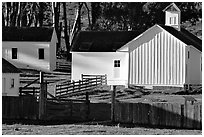 Historic Farmhouse. Point Reyes National Seashore, California, USA (black and white)