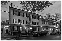 Griswold Inn at dusk, Essex. Connecticut, USA ( black and white)