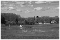 Oyster River estuary, Old Saybrook. Connecticut, USA (black and white)