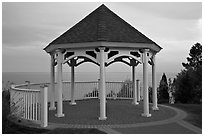 Gazebo, Westbrook. Connecticut, USA (black and white)