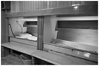 Sleeping berth on historic ship. Mystic, Connecticut, USA ( black and white)