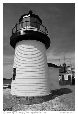Brant Point replica lighthouse. Mystic, Connecticut, USA