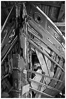 Prow of Schooner Australia. Mystic, Connecticut, USA (black and white)