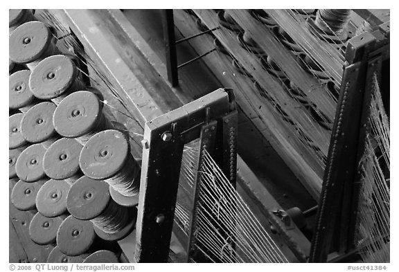 Rope manufacturing. Mystic, Connecticut, USA (black and white)