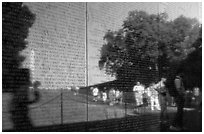 The Wall, Vietnam Veterans Memorial. Washington DC, USA ( black and white)